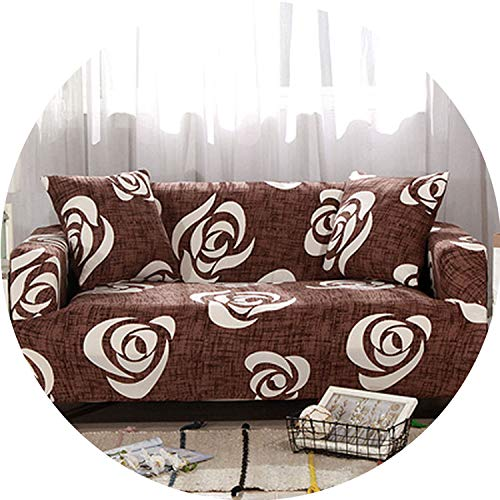 be-my-guest Leaves Pattern Sofa Covers Elastic Stretch Universal Sectional Throw Couch Corner Cover Cases for Furniture Armchairs Home Deco,2,Two seat Sofa