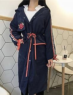 Xuanku Femmes039;S Facile/Daily Street Chic Manteau d'automne,Imprimer Manches Longues À Capuche Long Coton Autres