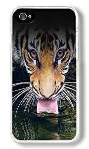 Arrow Design Custom iphone 4/4s iphone 4/4s Case Back Cover, Snap-on Shell Case Polycarbonate PC Plastic Hard Case Transparent