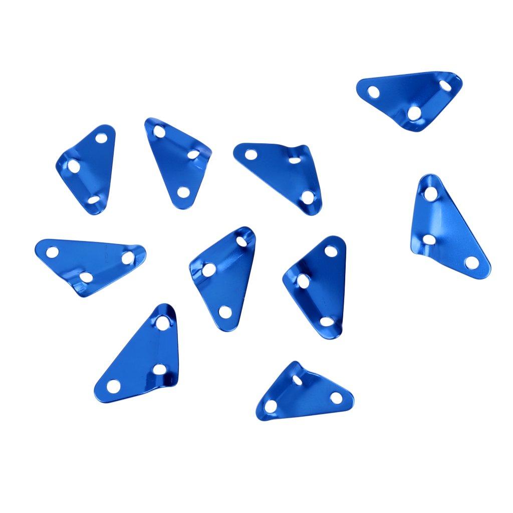 FLAMEER 10x Dreieck 3 Loch Campingzelt Markise Schatten Guyline Seil L/äufer Spanner