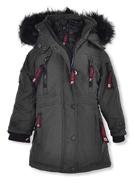 Amazon.com: Chaqueta para niña Canada WEATHER GEAR Little ...