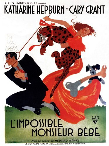 Bringing Up Baby Poster Movie 1938 French Style A