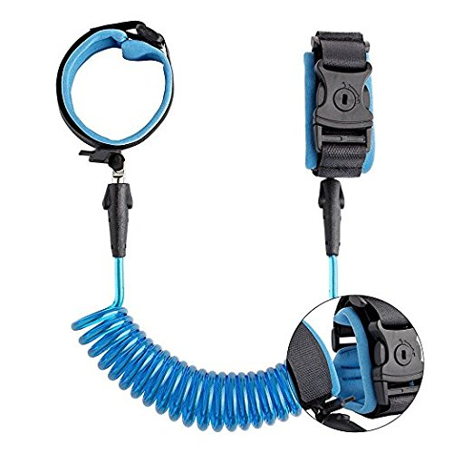 (Toddler Safety Harnesses Leashes,Travel Lover Upgraded Anti Lost Wrist Link with Lock Walking Safety Leash Hand Belt Band Wristband Reins Care Belt Travel Gear for Little Babies Kid Boys Girls,1.5M)