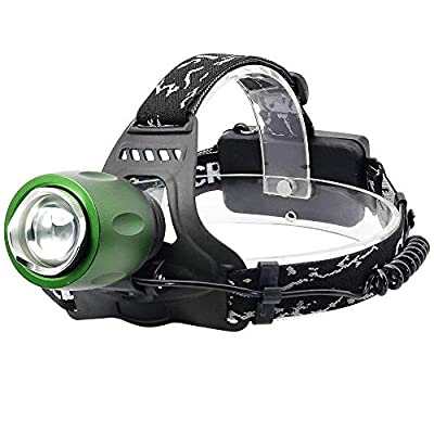 MUTANG LED Outdoor Lightweight headlamp, Super Bright 2500 Lumens USB Rechargeable Aluminum Alloy Head Torch, Waterproof Miner's lamp for Running Walking Cycling Camping Outdoor Lighting