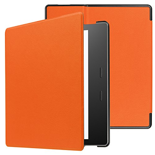 All-New Kindle Oasis (9th Generation, 2017 Release) Case - Ratesell Smart-shell Stand Case Cover With Auto Sleep/ Wake for Kindle Oasis E-reader 2017 (Orange Oasis)