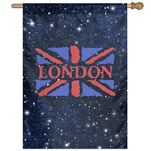 DJIEZI London Vertical Garden Flag Banner Only One Side 27
