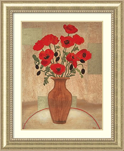 Framed Wall Art Print Crimson Poppies by Beverly Jean 36.75 x 44.75
