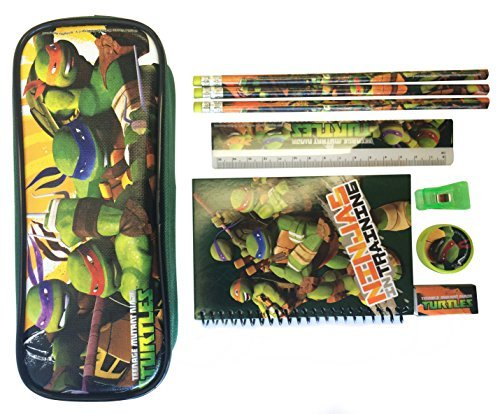 Ninja Turtles Pencil Case and Stationary Set - Great Gift Set for Boys