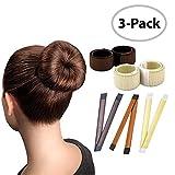 Magic Hair Bun Maker / 3 PACK/Multi Colors/Perfect Hair Bun Making Tool/Donut Bun DIY Hair Styling/Hair Bun Shaper/Ballet Hair Bun