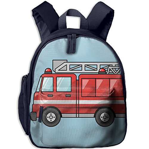 CICIBLUE Cute Fire Truck Cartoon Boy&girl's Kids Backpack 3D Print Toddler Toys Bag Book Bag Preschool Backpack ()