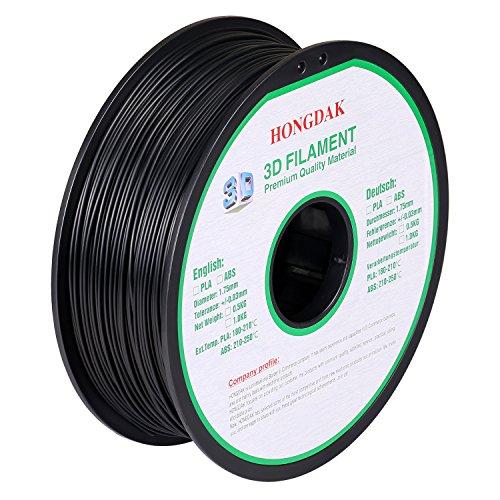 HONGDAK Filament Dimensional Accuracy PLA 1000g 1 75mm BLACK product image