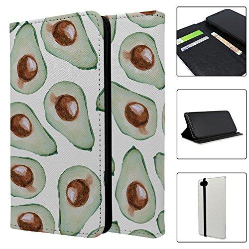 Avocados braun Gemüse Full Flip Case Schutzhülle für für Apple iPhone 8–kf1307mcs