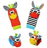 Baby Learning Fun - Animal Wrist and Sock Rattle Soft...