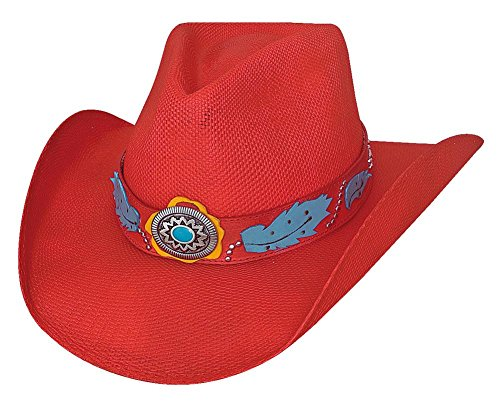 Montecarlo Bullhide Hats WILD ONE Bangora Straw Western Cowboy Hat (Medium)