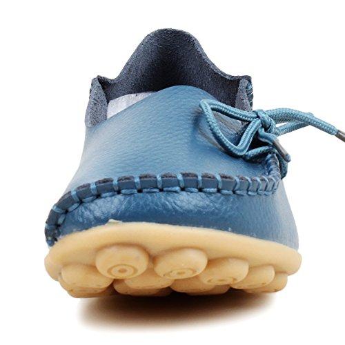 FangstoLoafer Flats - zapatilla baja mujer azul claro