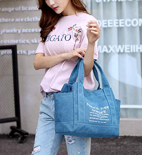 sacchetto della della tela spesa Borse a della borsa Hobo della tracolla blu superiore spiaggia del della della borsa maniglia con la spalla del 04dxqpwd