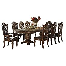 ACME Vendome Casual Dining Room Set with Dining Table, 6 x Side Chair and 2 x Arm Chair