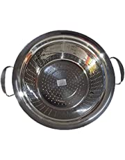 Strainer with 2 Stainless Handles - Size 26, Silver