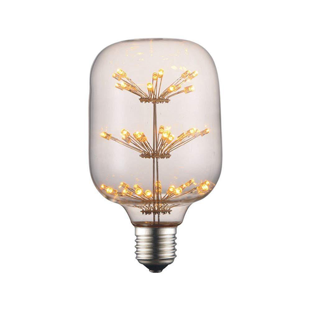 Edison Vintage Glühbirne, Edison LED Lampe Warmweiß E27 Retro Glühbirne Vintage Antike Glühbirne Flaschenglas (Gypsophila) Ideal Für Nostalgie Und Retro Beleuchtung Im Haus Café Bar Usw - 10 Stück