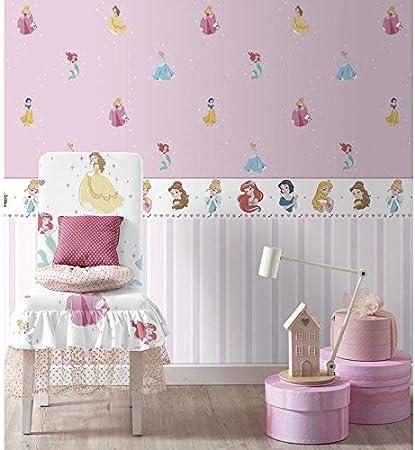 Bord Sticker Princesses Disney Blanc et Rose pour Chambre ...