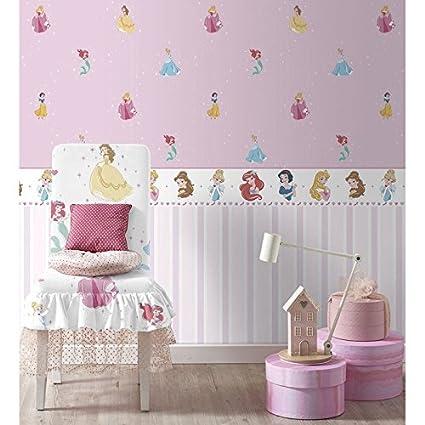 Bord Sticker Princesses Disney Blanc Et Rose Pour Chambre Fille