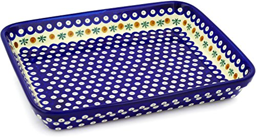 Polish Pottery Rectangular Baker 13-inch Mosquito