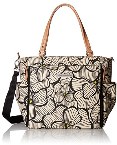 Petunia Pickle Bottom City Carryall Tote, Bouquets in Bordeaux