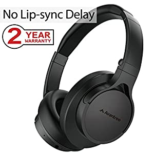 Super Comfortable Bluetooth Headphones for TV PC, Low Audio Delay, Best with Avantree Priva III, Audikast, Good Sound, Foldable Wireless Wired Over Ear Music Headset for Gaming - HS063 [24M Warranty]