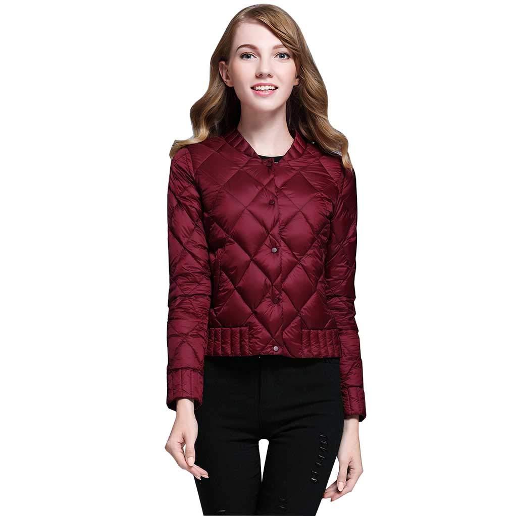 Daunenjacke Damen Winter Slim Short, Erwachsene Casual Koreanische Jacke