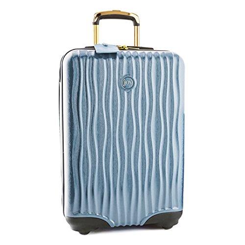 Joy Mangano Hardside Medium Carry-On Luggage, Steel Blue