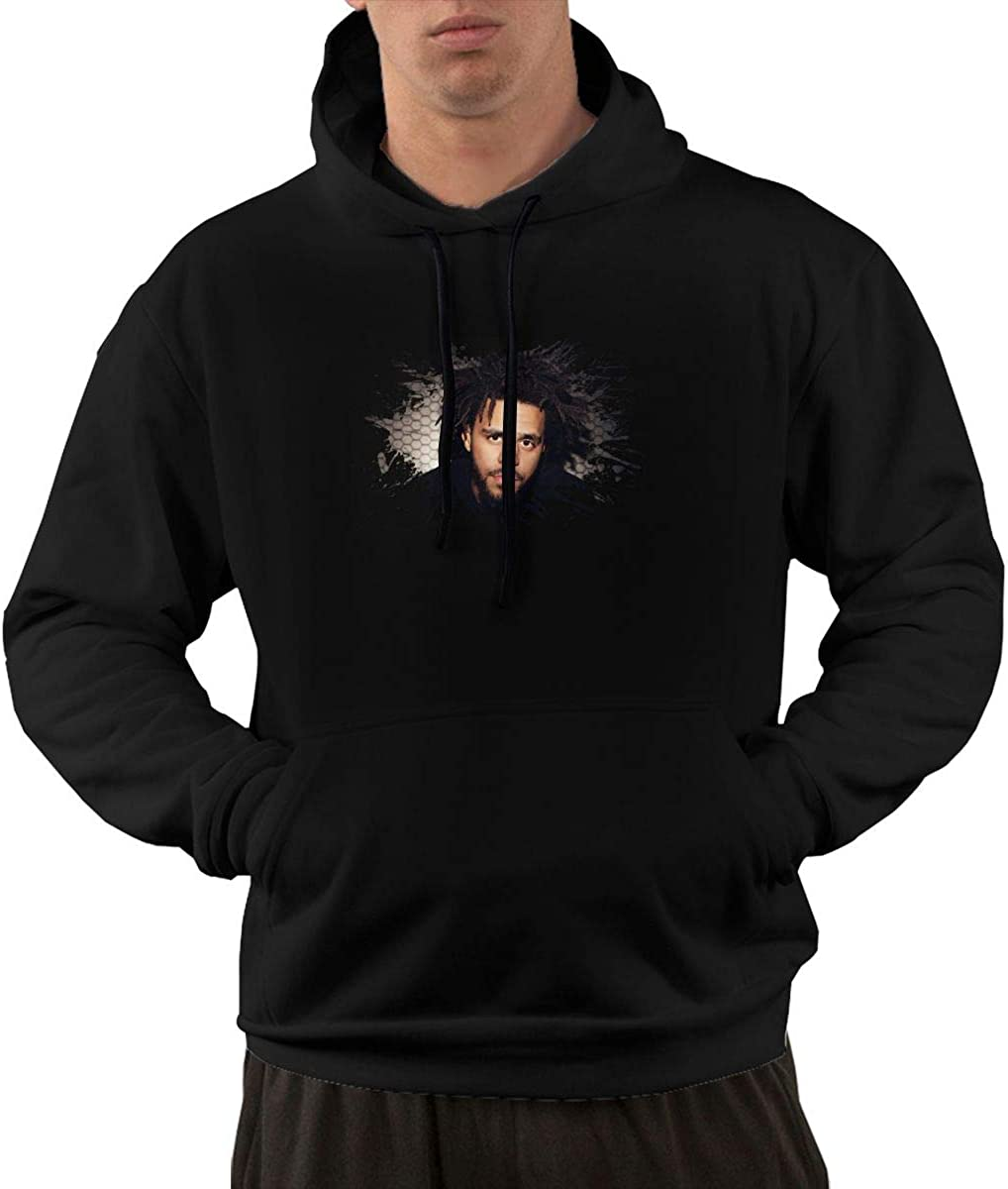 HangHisi J Cole Mens Hoodie Long Sleeve Hooded Pocket Sweater Black