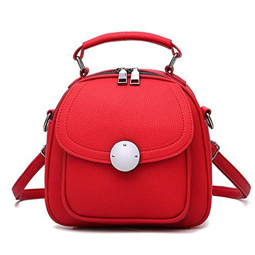 Tibes Bolso de cuerpo cruzado para mujer Bolso lindo Pequeño bolso de hombro A rojo
