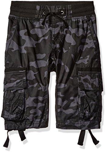 Southpole Boys' Big Fine Twill All Over Camo Jogger Shorts w