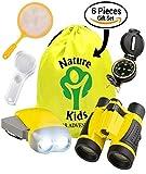 Adventure Kids - Educational Outdoor Children's Toys - Binoculars, Flashlight, Compass, Magnifying Glass, Butterfly Net & Backpack. Explorer Kit, Great Kidz Gift Set For Birthday, Camping & Hiking