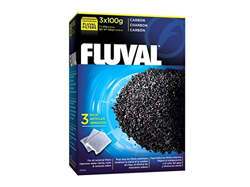 Fluval Carbon, 100-gram Nylon Bags - 3-Pack Saltwater Fish Medication
