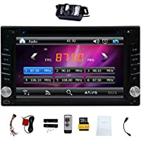 Upgarde Version With Camera ! 6.2 Double DIN Car DVD CD Video Player Bluetooth In Dash GPS Navigation Car Stereo Radio Digital Touch Screen Head Unit Car PC 800MHZ CPU !!!