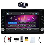 Upgarde Version With Camera ! 6.2'' Double DIN Car DVD CD Video Player Bluetooth In Dash GPS Navigation Car Stereo Radio Digital Touch Screen Head Unit Car PC 800MHZ CPU !!!