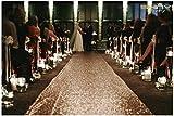 personalized aisle runner - ShinyBeauty Sequin Aisle Outside Wedding Floor Runner-4FTx20FT-Champagne, Carpet Aisle Runner fabric for wedding 48