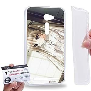 """Case88 [Asus Zenfone 2 5.0"""" ZE500CL] Gel TPU Carcasa/Funda & Tarjeta de garantía - Yosuga no Sora Sora Kasugano Haruka Kasugano 1447"""