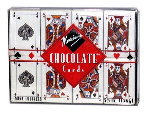 Madelaine Chocolate Juego de cartas caja de regalo: Amazon ...