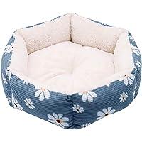 Large Pet Dog Cat Bed Puppy Cushion House Pet Soft Warm Kennel Dog Mat Blanket(Blue,S)