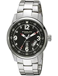 Stuhrling Original Men's 378B.33111 Aviator Tuskegee Elite Automatic Day Date Black Dial Watch