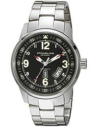Stuhrling Original Men's 378B.33111 Aviator Tuskegee Elite Automatic Day Date Black Dial Watch