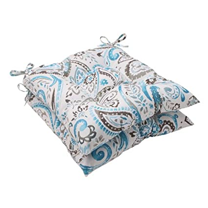 Amazon.com: Conjunto de 2 turquesa & gris paisley Swirl ...