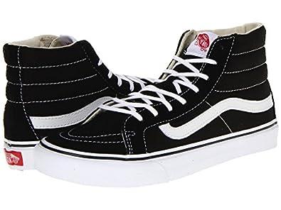 Vans unisex sk8 hi slim black true white for Vans amazon