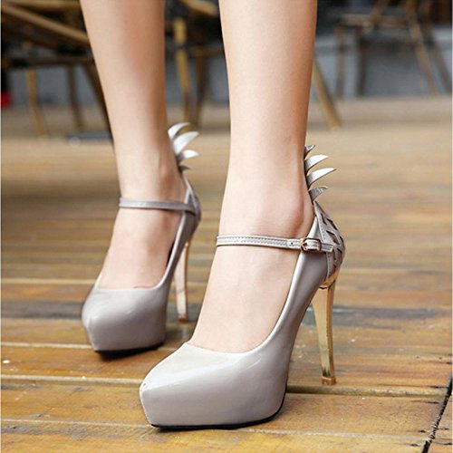 1 Ultra Mujeres Patente Con Impermeable De Alta Baja E Mzg Elegante Mujer Zapatos Cuero Taiwán Boca 6qFZHZ
