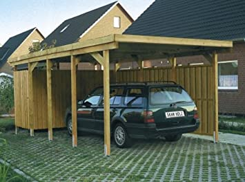 Skan Holz Carport Lausitz 312 x 550 cm: Amazon.de: Garten