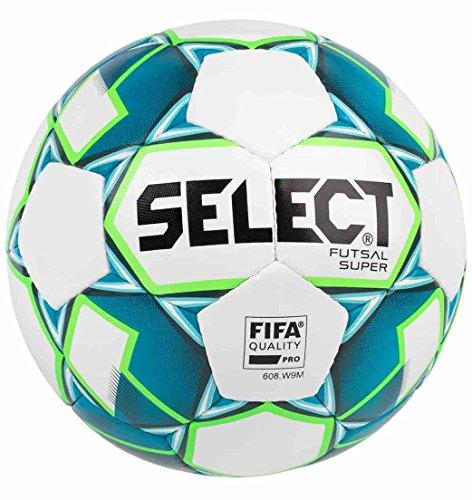 Select Super balón de fútbol Sala Adulto Unisex, White/Blue ...