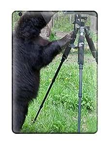 Awesome GTbUByJ10958gFTfS AnnDavidson Defender Tpu Hard Case Cover For Ipad Air- Black Bear