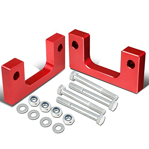 For Chevy Silverado/GMC Sierra Red Front 1 inch Low Mount Leveling Lift Kit Spacers